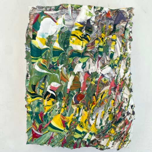Gallery detailed view of Rainforest small original textured abstract art on canvas