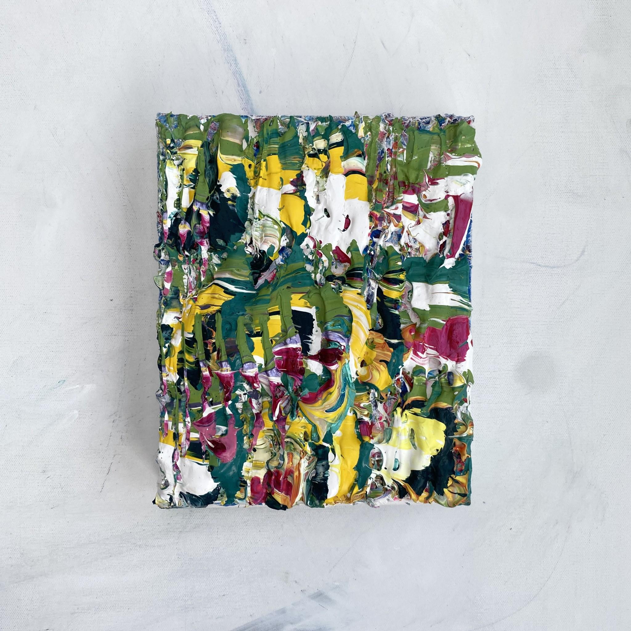 Gallery full view of Verdure of the Rain forest, abstract original impasto art by Emily Duchscherer Kirk.
