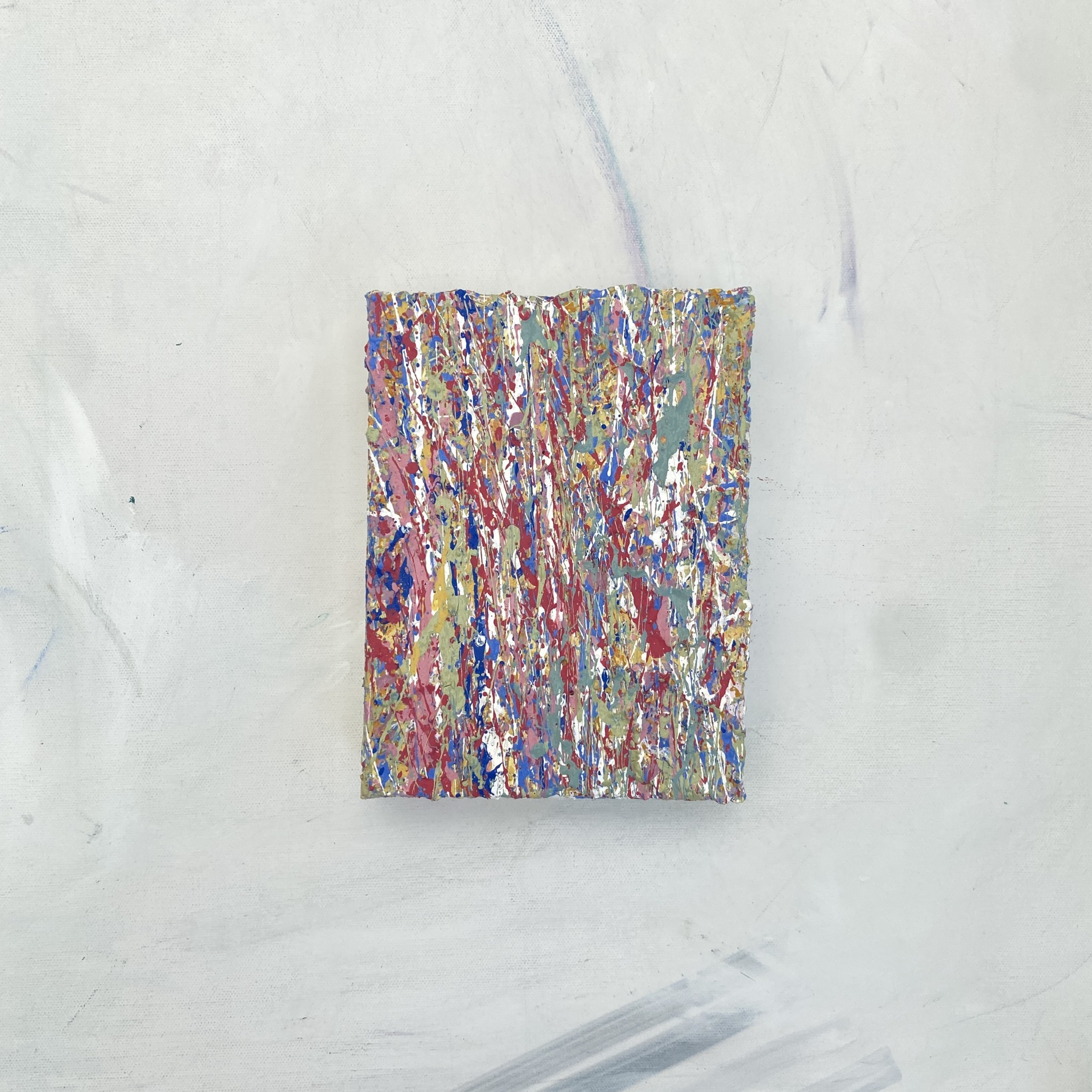 gallery full view of Elements One a colourful abstract artwork created using plastic free environmentally friendly paints by yeovil somerset artist emily duchscherer kirk